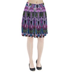 Sly Dog Modern Grunge Style Blue Pink Violet Pleated Skirt