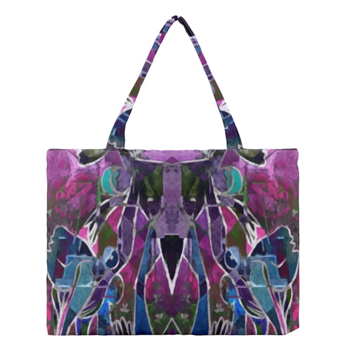 Sly Dog Modern Grunge Style Blue Pink Violet Medium Tote Bag