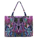 Sly Dog Modern Grunge Style Blue Pink Violet Medium Zipper Tote Bag View1