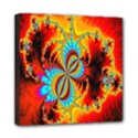 Crazy Mandelbrot Fractal Red Yellow Turquoise Mini Canvas 8  x 8  View1