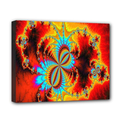 Crazy Mandelbrot Fractal Red Yellow Turquoise Canvas 10  X 8