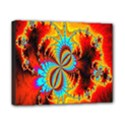 Crazy Mandelbrot Fractal Red Yellow Turquoise Canvas 10  x 8  View1