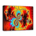 Crazy Mandelbrot Fractal Red Yellow Turquoise Canvas 14  x 11  View1