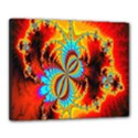 Crazy Mandelbrot Fractal Red Yellow Turquoise Canvas 20  x 16  View1