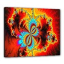 Crazy Mandelbrot Fractal Red Yellow Turquoise Canvas 24  x 20  View1