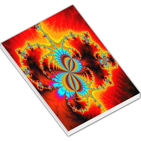 Crazy Mandelbrot Fractal Red Yellow Turquoise Large Memo Pads