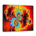 Crazy Mandelbrot Fractal Red Yellow Turquoise Deluxe Canvas 24  x 20   View1