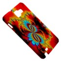 Crazy Mandelbrot Fractal Red Yellow Turquoise Samsung Galaxy Note 1 Hardshell Case View5
