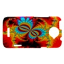 Crazy Mandelbrot Fractal Red Yellow Turquoise HTC One X Hardshell Case  View1