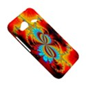 Crazy Mandelbrot Fractal Red Yellow Turquoise HTC Droid Incredible 4G LTE Hardshell Case View5