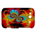 Crazy Mandelbrot Fractal Red Yellow Turquoise HTC Wildfire S A510e Hardshell Case View1