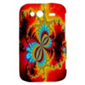 Crazy Mandelbrot Fractal Red Yellow Turquoise HTC Wildfire S A510e Hardshell Case View2