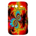 Crazy Mandelbrot Fractal Red Yellow Turquoise HTC Wildfire S A510e Hardshell Case View3