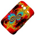 Crazy Mandelbrot Fractal Red Yellow Turquoise HTC Wildfire S A510e Hardshell Case View4