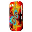 Crazy Mandelbrot Fractal Red Yellow Turquoise HTC Desire S Hardshell Case View3