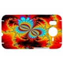 Crazy Mandelbrot Fractal Red Yellow Turquoise HTC Desire HD Hardshell Case  View1