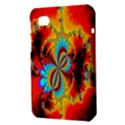 Crazy Mandelbrot Fractal Red Yellow Turquoise Samsung Galaxy Tab 7  P1000 Hardshell Case  View3