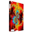 Crazy Mandelbrot Fractal Red Yellow Turquoise Apple iPad 2 Hardshell Case (Compatible with Smart Cover) View2