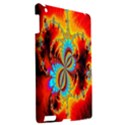 Crazy Mandelbrot Fractal Red Yellow Turquoise Apple iPad 3/4 Hardshell Case View2