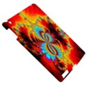 Crazy Mandelbrot Fractal Red Yellow Turquoise Apple iPad 3/4 Hardshell Case View5