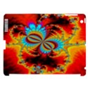 Crazy Mandelbrot Fractal Red Yellow Turquoise Apple iPad 3/4 Hardshell Case (Compatible with Smart Cover) View1