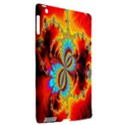 Crazy Mandelbrot Fractal Red Yellow Turquoise Apple iPad 3/4 Hardshell Case (Compatible with Smart Cover) View2