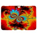 Crazy Mandelbrot Fractal Red Yellow Turquoise Samsung Galaxy Tab 8.9  P7300 Hardshell Case  View1