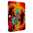 Crazy Mandelbrot Fractal Red Yellow Turquoise Samsung Galaxy Tab 8.9  P7300 Hardshell Case  View2