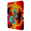 Crazy Mandelbrot Fractal Red Yellow Turquoise Samsung Galaxy Tab 8.9  P7300 Hardshell Case  View3