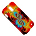 Crazy Mandelbrot Fractal Red Yellow Turquoise Samsung Galaxy S II Skyrocket Hardshell Case View5