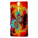 Crazy Mandelbrot Fractal Red Yellow Turquoise Sony Xperia S View3