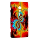 Crazy Mandelbrot Fractal Red Yellow Turquoise Sony Xperia ion View2