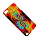 Crazy Mandelbrot Fractal Red Yellow Turquoise Apple iPod Touch 5 Hardshell Case View5