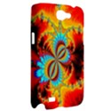 Crazy Mandelbrot Fractal Red Yellow Turquoise Samsung Galaxy Note 2 Hardshell Case View2