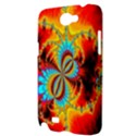 Crazy Mandelbrot Fractal Red Yellow Turquoise Samsung Galaxy Note 2 Hardshell Case View3