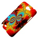 Crazy Mandelbrot Fractal Red Yellow Turquoise Samsung Galaxy Note 2 Hardshell Case View4