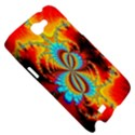 Crazy Mandelbrot Fractal Red Yellow Turquoise Samsung Galaxy Note 2 Hardshell Case View5
