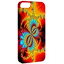 Crazy Mandelbrot Fractal Red Yellow Turquoise Apple iPhone 5 Classic Hardshell Case View2