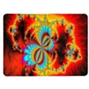 Crazy Mandelbrot Fractal Red Yellow Turquoise Kindle Fire (1st Gen) Flip Case View1
