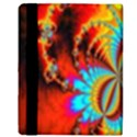 Crazy Mandelbrot Fractal Red Yellow Turquoise Apple iPad 2 Flip Case View3