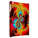 Crazy Mandelbrot Fractal Red Yellow Turquoise Apple iPad Mini Hardshell Case View2