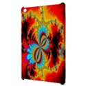 Crazy Mandelbrot Fractal Red Yellow Turquoise Apple iPad Mini Hardshell Case View3