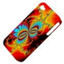 Crazy Mandelbrot Fractal Red Yellow Turquoise Apple iPhone 4/4S Hardshell Case (PC+Silicone) View4