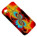 Crazy Mandelbrot Fractal Red Yellow Turquoise Apple iPhone 4/4S Hardshell Case (PC+Silicone) View5