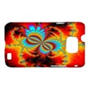 Crazy Mandelbrot Fractal Red Yellow Turquoise Samsung Galaxy S II i9100 Hardshell Case (PC+Silicone) View1