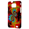 Crazy Mandelbrot Fractal Red Yellow Turquoise Samsung Galaxy S II i9100 Hardshell Case (PC+Silicone) View3