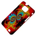 Crazy Mandelbrot Fractal Red Yellow Turquoise Samsung Galaxy S II i9100 Hardshell Case (PC+Silicone) View4