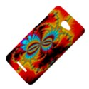 Crazy Mandelbrot Fractal Red Yellow Turquoise HTC Butterfly X920E Hardshell Case View4