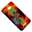 Crazy Mandelbrot Fractal Red Yellow Turquoise HTC Butterfly X920E Hardshell Case View5