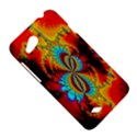 Crazy Mandelbrot Fractal Red Yellow Turquoise HTC Desire VC (T328D) Hardshell Case View5